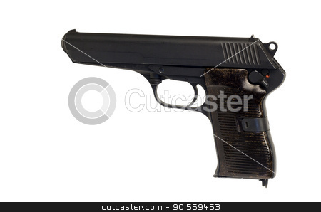 czechosolvakian military pistol stock photo, vintage czechosolvakian military pistol with clipping path at original size by digitalreflections