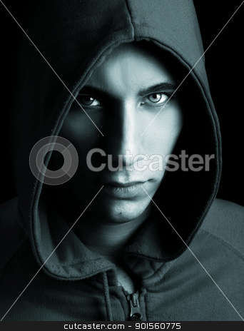 Fashion man portrait stock photo, Fashion portrait of a young guy wearing a cap, toned in PS by ikostudio