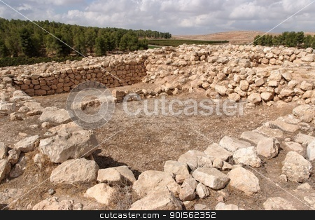 Excavations of the ancient temple stock photo, Excavations of the ancient temple  by Shlomo Polonsky