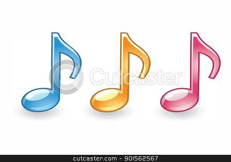 musical note icon on a white background  stock photo, musical note icon on a white background  by photomyheart