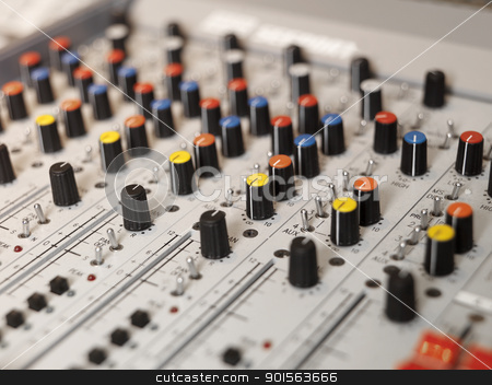 Audio Equipment stock photo, Audio Equipment with selective focus by Anne-Louise Quarfoth