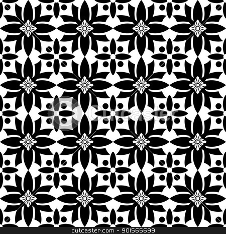 Seamless floral pattern stock vector clipart, Beautiful background of seamless classic floral pattern by Ingvar Bjork