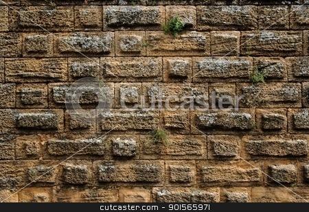 Ancient stone wall texture stock photo, Ancient stone wall texture by Shlomo Polonsky