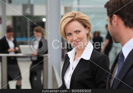 Businesswoman flirting stock photo, Businesswoman flirting by photography33