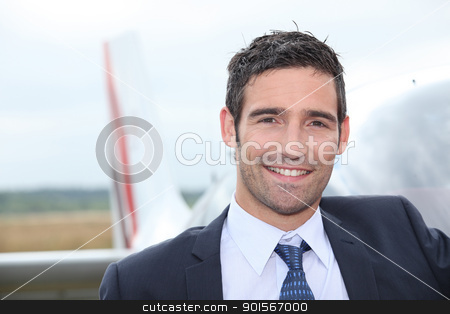 Pilot smiling stock photo, Pilot smiling by photography33