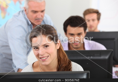 IT lesson stock photo, IT lesson by photography33