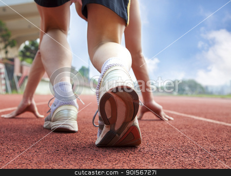 athlete ready for race stock photo, athlete ready for race by tomwang