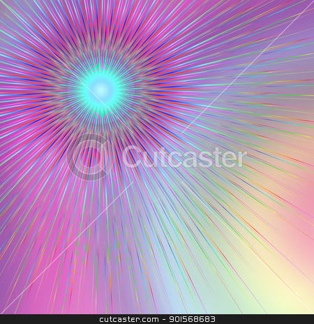 Geometric abstract. stock photo, Abstract illustration depicting geometric colorful lines against a mix of pastel color background. by Samantha Craddock