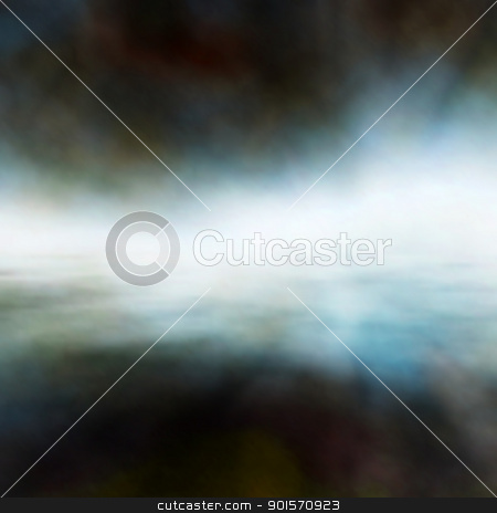 Misty waters stock vector clipart, Editable vector background of mist over water made using a gradient mesh by Robert Adrian Hillman