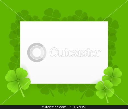 St Patrick Greeting Card stock vector clipart, Saint Patrick Greeting Card Illustration on green background by Vitezslav Valka