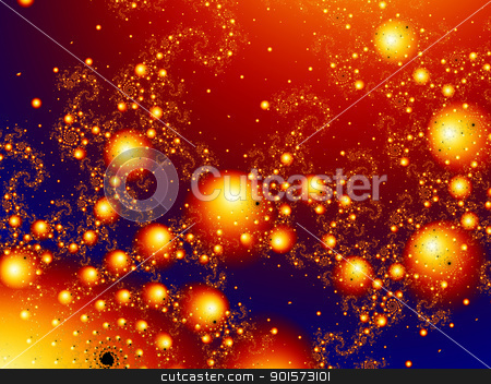 Mastering Madness - Red stock photo, 3d rendered Illustration. High res fractal pattern.  by Michael Osterrieder