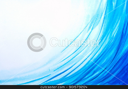 Abstract watercolor  backgrounds in form of waves and lines stock photo, Abstract watercolor  backgrounds in form of blue waves and lines. Art is created and painted by photographer  by Lawren