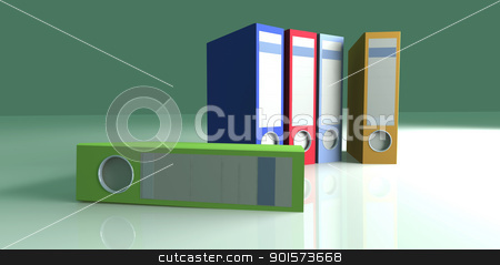 Colored Folders stock photo, 3D rendered Illustration.  by Michael Osterrieder