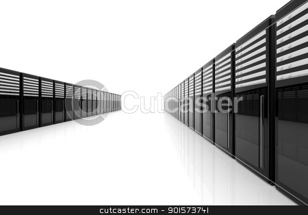 Server Room stock photo, 3d Illustration by Michael Osterrieder