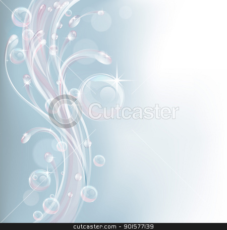 Pastel tone water background design stock vector clipart, Light coloured feminine transparent water background design by Christos Georghiou