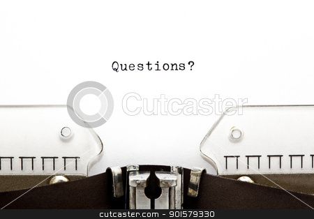 Questions on Typewriter stock photo, Questions? printed on an old typewriter  by Ivelin Radkov