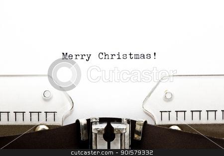 Merry Christmas on Typewriter  stock photo, Merry Christmas written on an old typewriter  by Ivelin Radkov