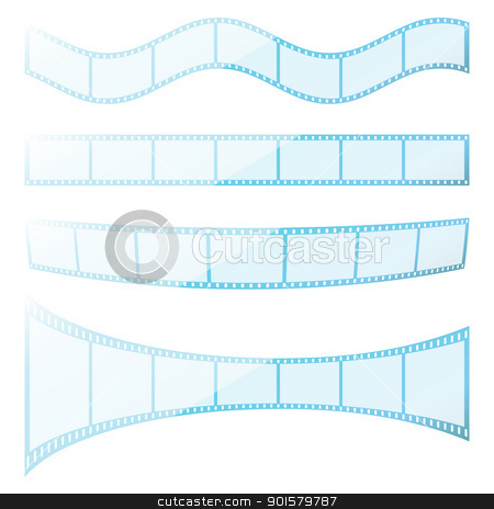 Set filmstrip stock photo, Set vector transparency film strip.  EPS8 compatible by Imaster