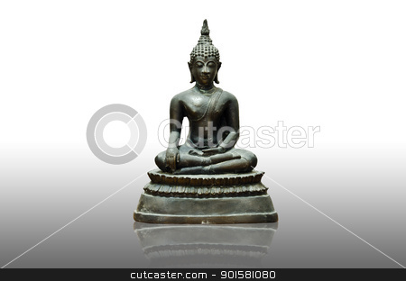 old Buddha statue stock photo, old Buddha statue in Thailand. by sweetcrisis