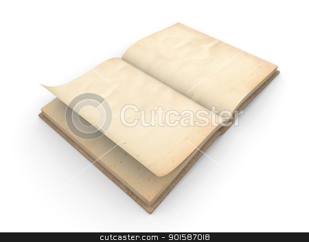 Antique Book stock photo, 3D Illustration. by Michael Osterrieder