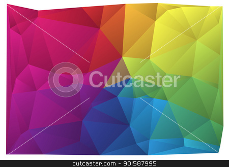 colorful vector background stock vector clipart, abstract wrinkled colorful vector background by Beata Kraus