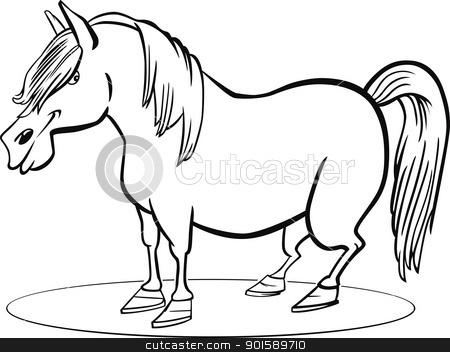 Cartoon Pony Horse Coloring Page