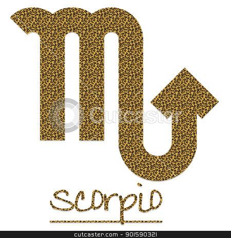 Leopard Scorpio Sign stock photo, Leopard Scorpio Sign by StacyO
