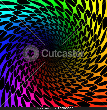 Spectrum swirl stock photo, Colorful background with spectrum swirl. Vector illustration on black by dvarg