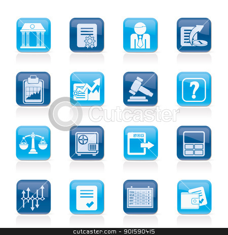 Stock exchange and finance icons stock vector clipart, Stock exchange and finance icons - vector icon set by Stoyan Haytov
