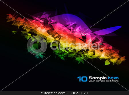 Vector abstract design stock photo, Abstract vector glowing background. For your design. by dvarg