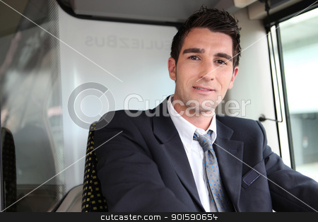 Bus driver stock photo, Bus driver by photography33