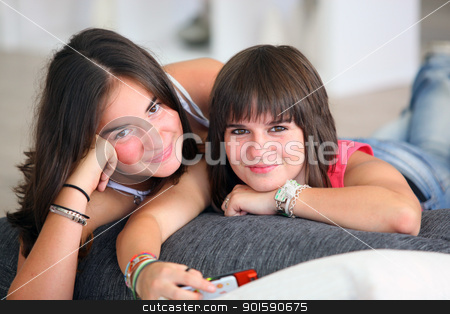 Teenagers hanging out together stock photo, Teenagers hanging out together by photography33