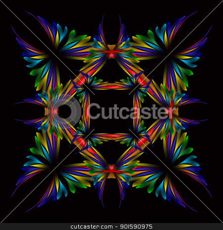 Vector abstract design stock photo, Abstract vector glowing background. For your design. Butterfly by dvarg