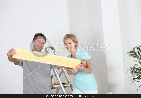 Couple decorating stock photo, Couple decorating by photography33