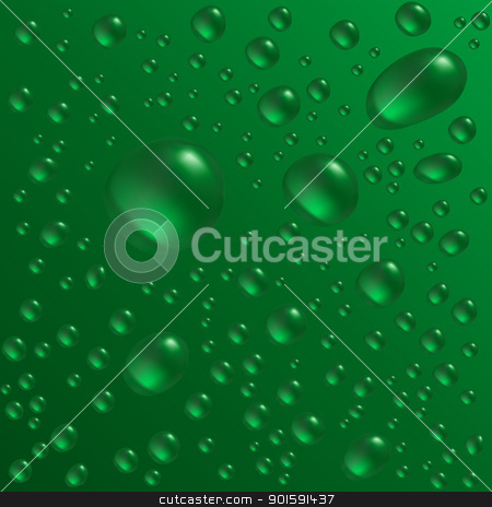 Water drops stock photo, Water drops are on the green surface. Vector seamless background image by dvarg