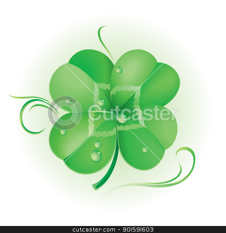 Irish shamrock stock photo, Irish shamrock for St Patrick's Day by dvarg