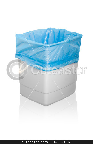 Garbage can stock photo, Garbage can. Isolated on white background. by dvarg