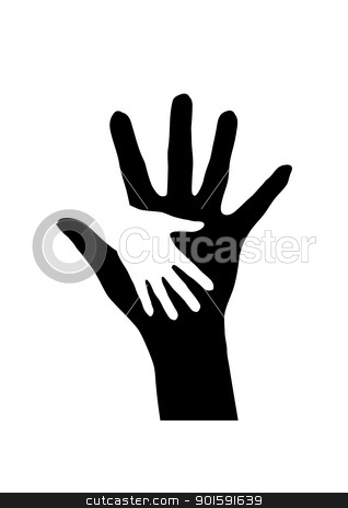 Hands stock photo, Helping hands. Abstract illustration for design. by dvarg