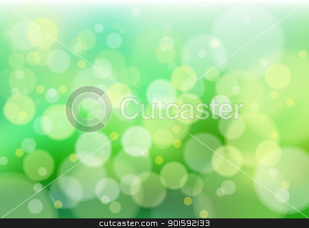 Green defocus lights  stock photo, Defocused creative abstract green lights. Vector background by dvarg
