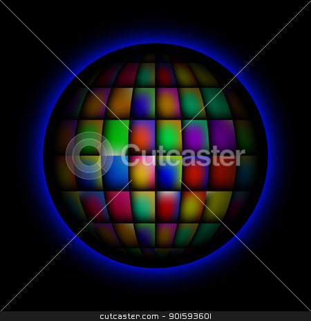 Sphere abstract bright colorful background stock photo, Sphere abstract bright colorful background for design. Black release. by dvarg