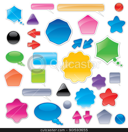 Collection of color web elements stock photo, Collection of color web elements. Perfect for adding your own text or icons. by dvarg