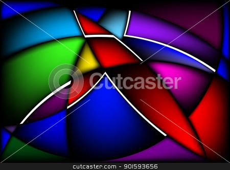 Wavy abstract bright colorful background stock photo, Wavy abstract bright colorful background for design. Black release. by dvarg