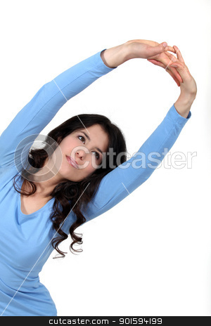 Female model stretching. stock photo, Female model stretching. by photography33