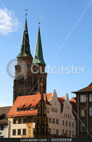 Historic Buildings in Nuremberg stock photo, Historic Buildings in Nuremberg, Bavaria, Germany. by Michael Osterrieder