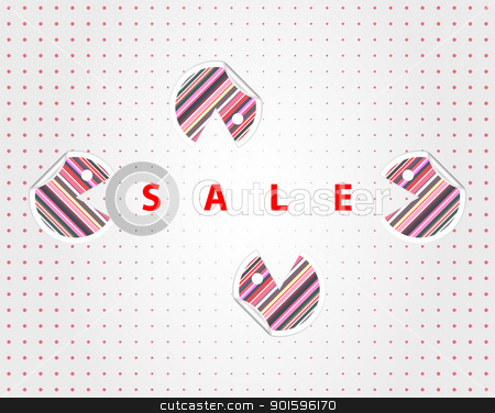Funny sale labels stock photo, Funny labels for decoration a sale place by Imaster