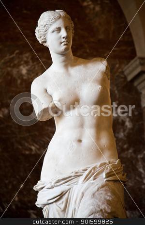 Venus de Milo stock photo, Statue of the Greek goddess Aphrodite, discovered on the island of Melos (