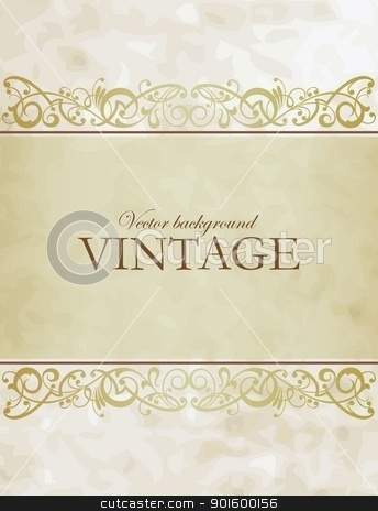 Vintage vector background stock vector clipart, Vintage vector background by Mikhail Puhachou