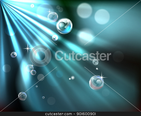 Light rays bubble background stock vector clipart, An abstract light rays and  bubble background illustration by Christos Georghiou
