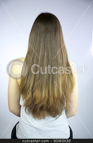 Beautiful long hair stock photo, Beautiful very long hair by federico marsicano