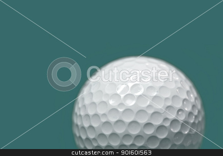 Golf ball  stock photo, Golf ball on green background by pixbox77